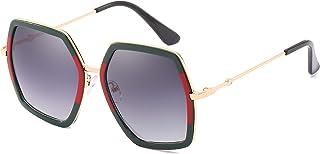 IKANOO Oversized Square Sunglasses for Women Hexagon Inspired Designer Style Shades