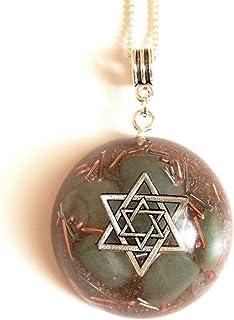 Aventurina orgonita estrella de David amuleto chakra reiki talismán protección orgón