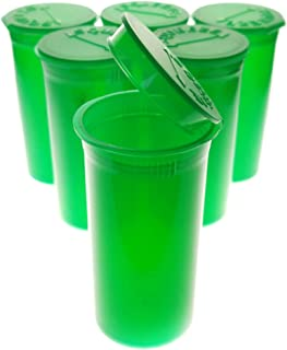 Van Cave 100 Pack Green Translucent 13 Dram Pop Top Bottle Rx Vial Medical Herb Box Herb Container