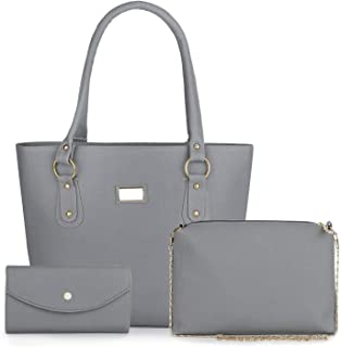 Mimisku handbag set with handbag, sling bag and wallet