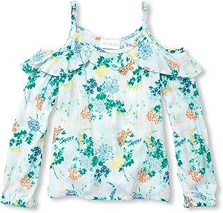 Big Girls' Cold Shoulder Printed Shirt