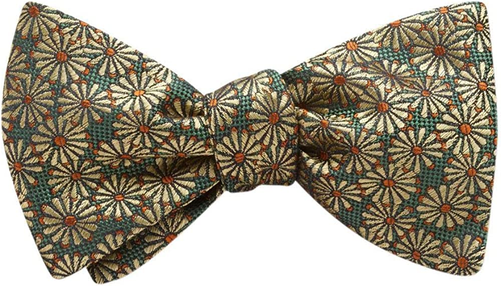 Grenoble Green Floral, Men's Bow Tie, Handmade in the USA