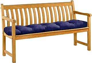 Garden Furniture Cushions Bench Mat Pad Seat Chair Home Swing Decor Pillow Indoor Outdoor Comfortable Floor,Blue,1.5 x 0.5m,Australia