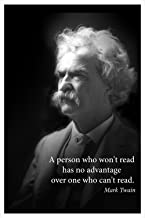 Mark Twain portrait poster with famous quote