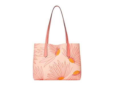 Kate Spade New York Molly Grand Daisy Small Tote (Pink Multi) Handbags