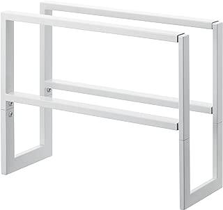 YAMAZAKI home Line 2 Shelves Adjustable Shoe Rack, Large, White
