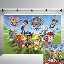 BEAF 7X5FT Cartoon Dogs Paw Patrol Photography Backdrop Baby Shower Kids Birthday Party Background Photobooth Props Vinyl Banner Supplies