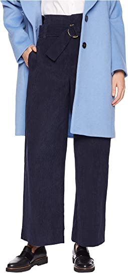 High-Waisted Wide Leg Corduroy Pants