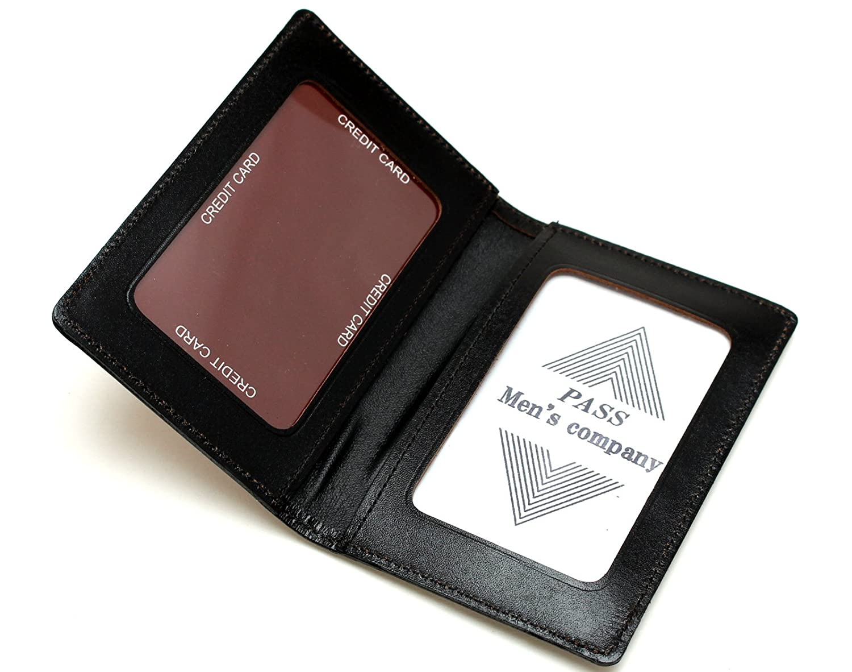 [メンズ カンパニー]Men's company 二つ折り パスケース カードポケット付き 日本製 本革