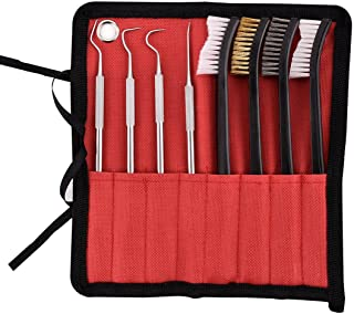 Axageid Xage Gun Cleaning Brush Set - 4 Pieces Double-Ended Brushes and 4 Pieces Stainless Steel Gunsmith Armorer Pick Set for Pistol/Shotgun/Rifle