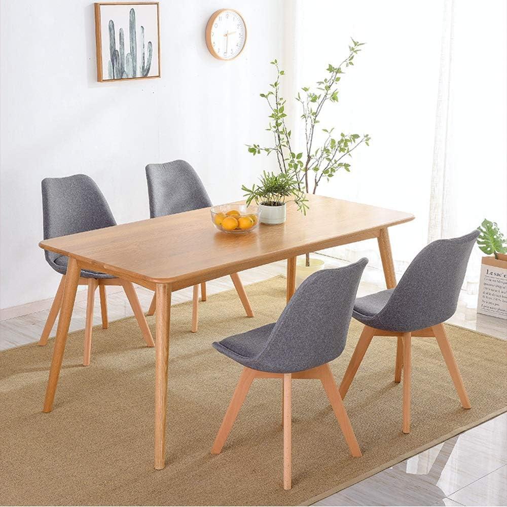 Chaise de salle à manger en bois massif Chaise de restaurant Chaise de bar Chaise de salon Chambre Chaise de café Chaise à langer Chaise d'ordinateur (Couleur : Gray) Gray