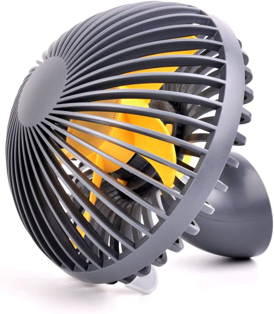 Aquatrend Mini Desk Fan Personal Fan, 2 Speeds Portable Desktop Table Cooling Fan Powered by USB, Strong Wind, Quiet Operation, Perfect for Home Office Car Outdoor Travel Grey