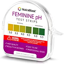 Nutrablast Feminine pH Test Strips 3.0-5.5 | Monitor Intimate Health & Prevent Infections | Easy to Use & Accurate Women's Acidity & Alkalinity Balance pH Level Tester Kit (100 Tests Roll)