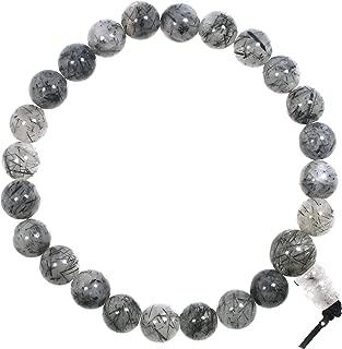 Tourmalinated Quartz Power Bead Bracelet