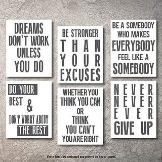 Inspirational Wall Art Poster Prints Quote Positive Affirmation Motivational Wall Art..