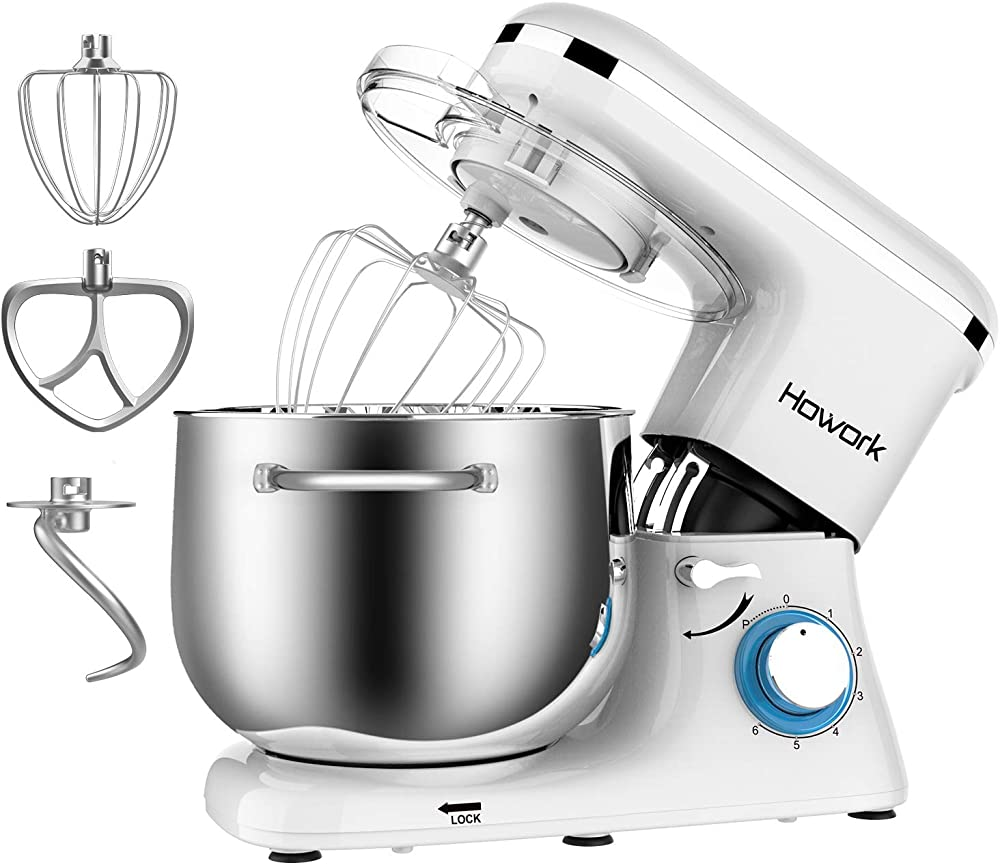 Howork , impastatrice planetaria , robot da cucina , 6 velocità con ciotola in acciaio inossidabile SM-1520Z