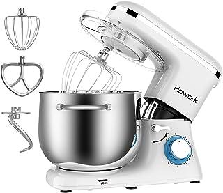 comprar comparacion Howork 1500W Batidora Amasadora, 8 litros capacidad Profesional Amasadora de pan Automática Multifuncional, 6 Niveles de V...