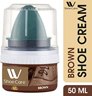 W Shoe Care Instant Shine Brown Shoe Cream Polish, 50ml