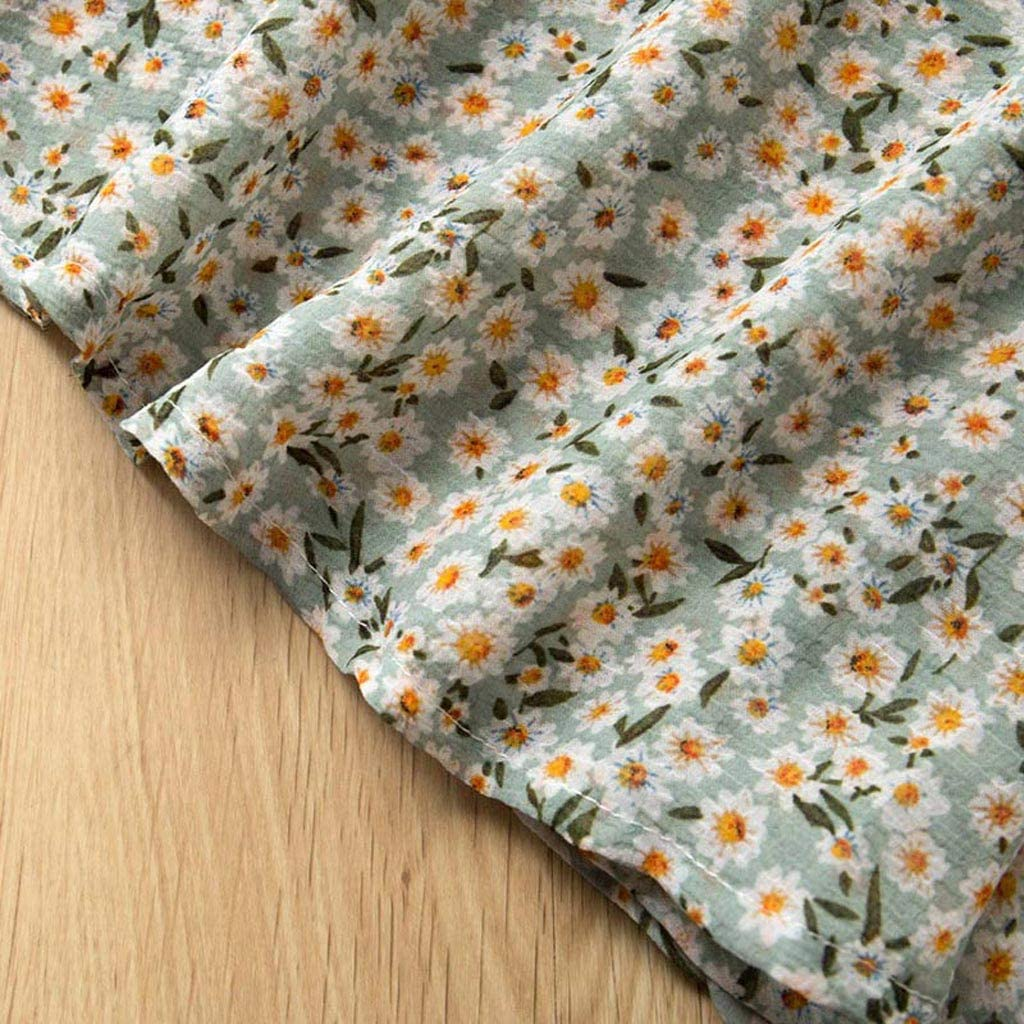 Shorts+Sun Hat Set RYGHEWE 3PCS Little Girls Summer Outfits Clothes Floral Vest T-Shirt Tops