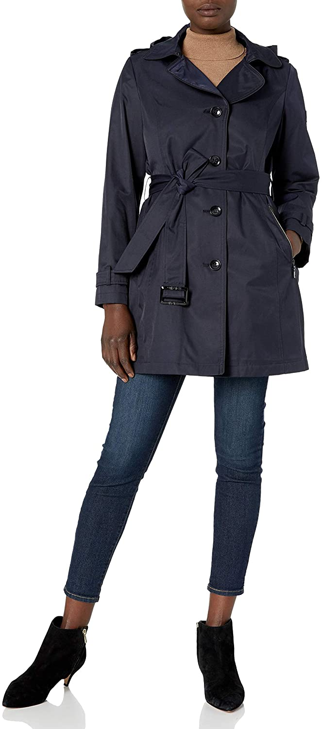 Vince Camuto Women's Belted Trench with Hood