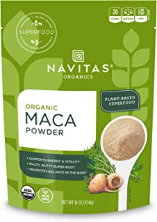 Navitas Organics Maca Powder, 16 oz. Bag, 52 Servings — Organic, Non-GMO, Low Temp-Dried, Gluten-Free