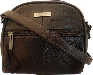 f31274b98 Lorenz Real Genuine Leather Small Shoulder Bag Cross body bag DARK BROWN