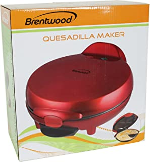 Brentwood TS-120 Quesadilla Maker, 8-inch, Red