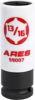 ARES 59007-13/16-Inch 1/2-Inch Drive Non-Marring Lug Nut Socket - Protective Sleeve Prevents Damage to Custom Rims & Lug Nuts - Color Coded & Laser Etched for Easy Identification
