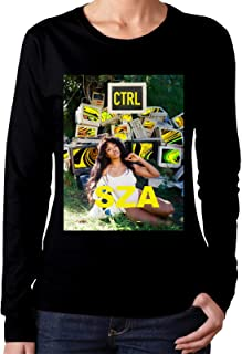 SZA Ctrl Women`s Classic Fashion Round Neck Long Sleeve T-Shirt Top