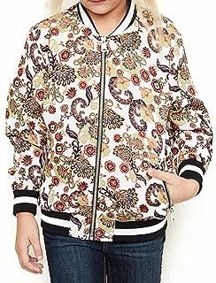 Girls Hayden Cream Print Bomber Jacket