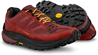 Topo Men's MTN Racer Trail Running Shoes Red/Orange 8.5 & Headband Bundle