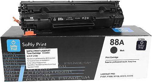 Softly Print 88A CC388A Laserjet Toner Cartridge for HP Printers (for HP Laserjet M1136 MFP)