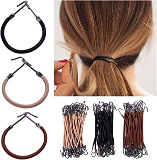 Keyzone 15Pcs Elastic Hair Bands Hook Ponytail Clip Holder Rubber Braids Hair Thick Curly Unruly Hair Styling Tools Hair A...