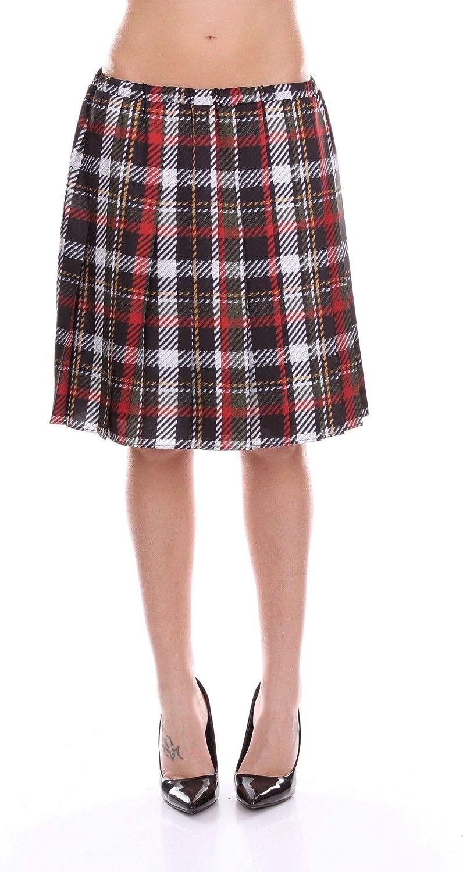 bluegirl Women's 6119BROWN Brown Polyester Skirt