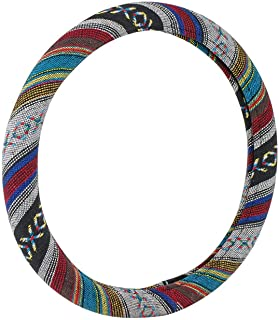 "C.P.R. Universal Baja Blanket Steering Wheel Cover Baja Inca Saddle Blanket Tribal Weave Design Odorless 14.5""-15.5"" (Baja)"