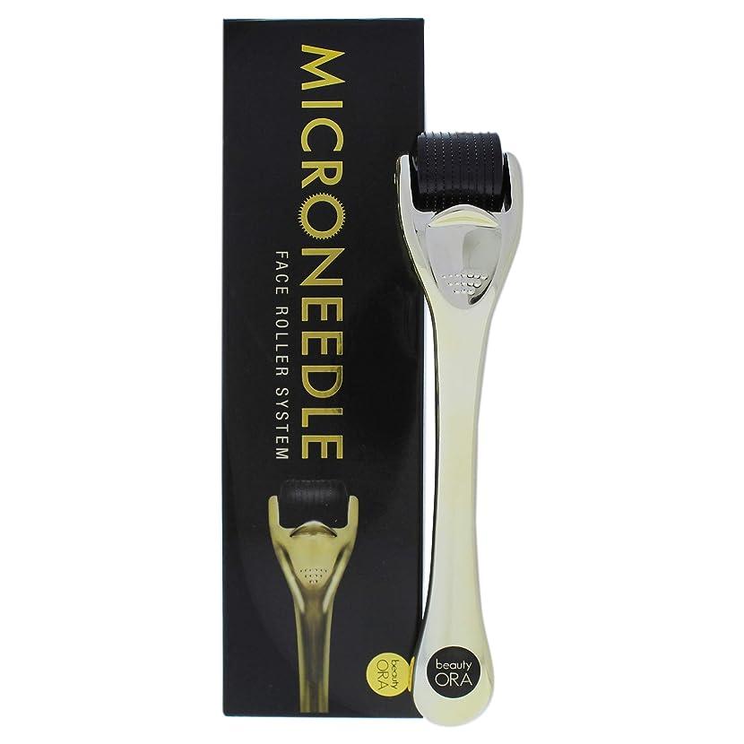 ほうきオアシス探検Microneedle Face Roller System - Black-Gold