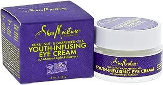 Shea Moisture Kukui Nut & Grapeseed Oils Youth-Infusing Eye Cream for Unisex, 0.5 Ounce