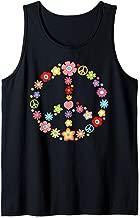 PEACE SIGN LOVE Flower 60s 70s Tie Dye Hippie Costume Gift Tank Top