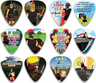 Armor of God Guitar Picks (12-Pack) - Motivational Inspirational Bible Verse – Inspiringly Cool Gifts Love for Men Women Y...