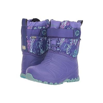 Merrell Kids Snow Quest Lite Waterproof (Toddler) (Purple/Print) Girls Shoes