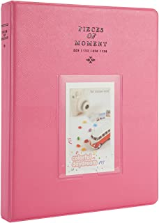 CAIUL Compatible 128 Pockets Mini Photo Album for Fujifilm Instax Mini 7s 8 8+ 9 25 26 50s 70 90 Film, Polaroid PIC-300 Z2300 Film (Flamingo Pink)