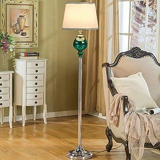 BXZ Lampadaire Led Vintage en Verre, E27 3 Températures de Couleur Debout Lamp avec abat-jour en tissu, télécommande, inte...