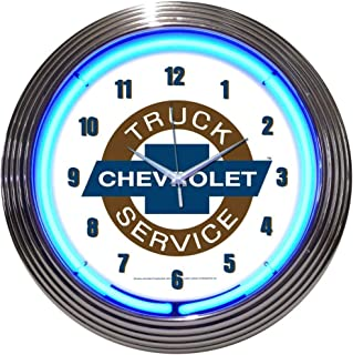 Neonetics Cars and Motorcycles Chevy Truck Neon Wall Clock, 15-Inch