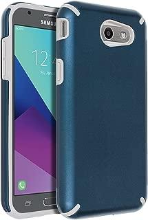SENON Slim-fit Shockproof Anti-Scratch Anti-Fingerprint Protective Case Cover for Samsung Galaxy J3 Emerge,J3 2017,J3 Prime,J3 Mission,J3 Eclipse,J3 Luna Pro,Sol 2,Amp Prime 2,Express Prime 2,Navy