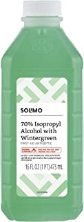 Amazon Brand - Solimo 70% Isopropyl Alcohol First Aid Antiseptic with Wintergreen, 16 Fluid Ounce