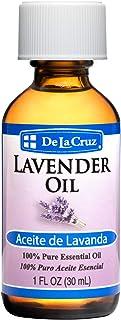 De La Cruz Pure Lavender Essential Oil / Steam-Distilled / Bottled in USA 1 FL. OZ.