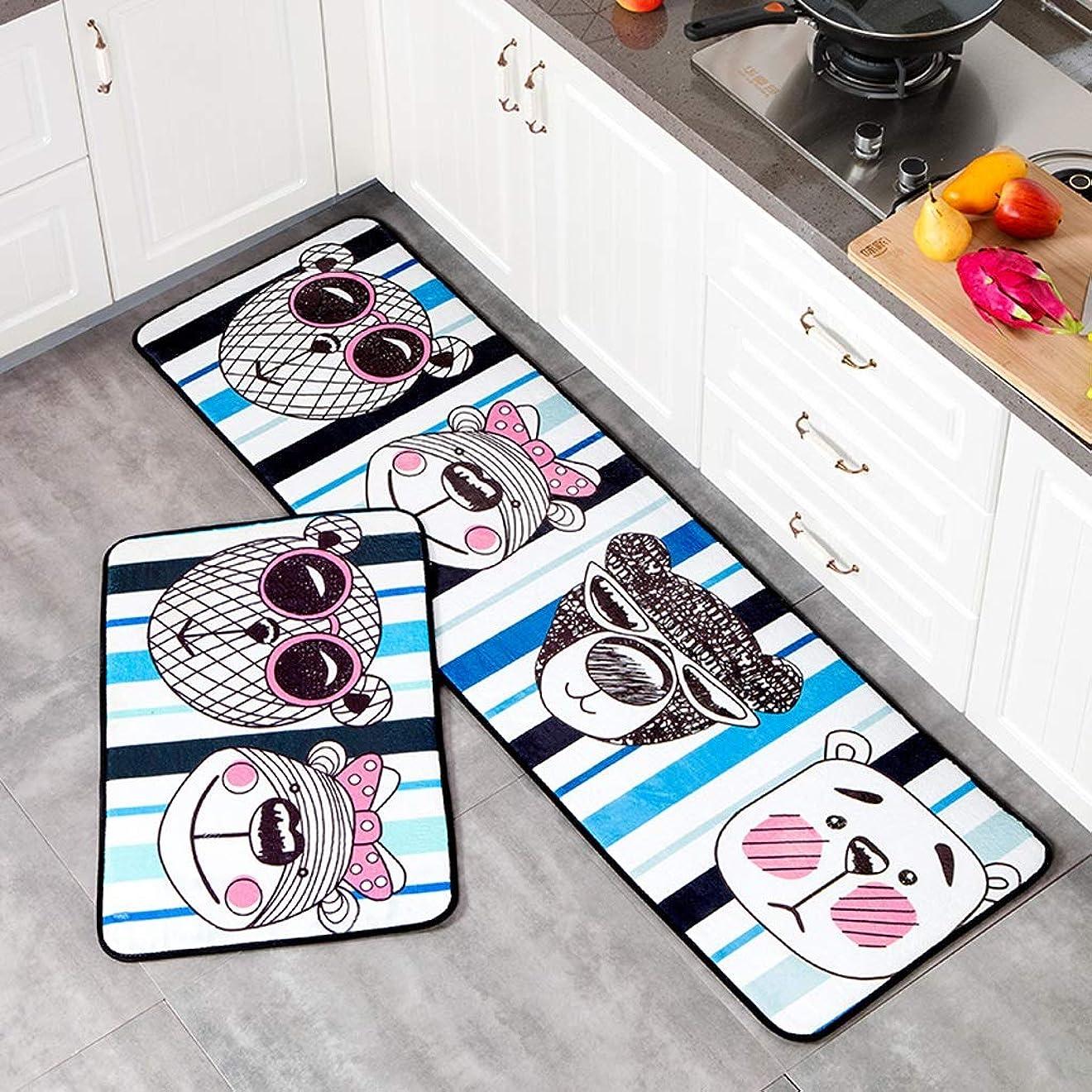 マイクロフォンうめき飾る防水キッチンマット、ブレンド家庭用オイルプルーフノンスリップドアマット、カーペット家庭リビングルーム白 UOMUN (Size : 50X120cm)
