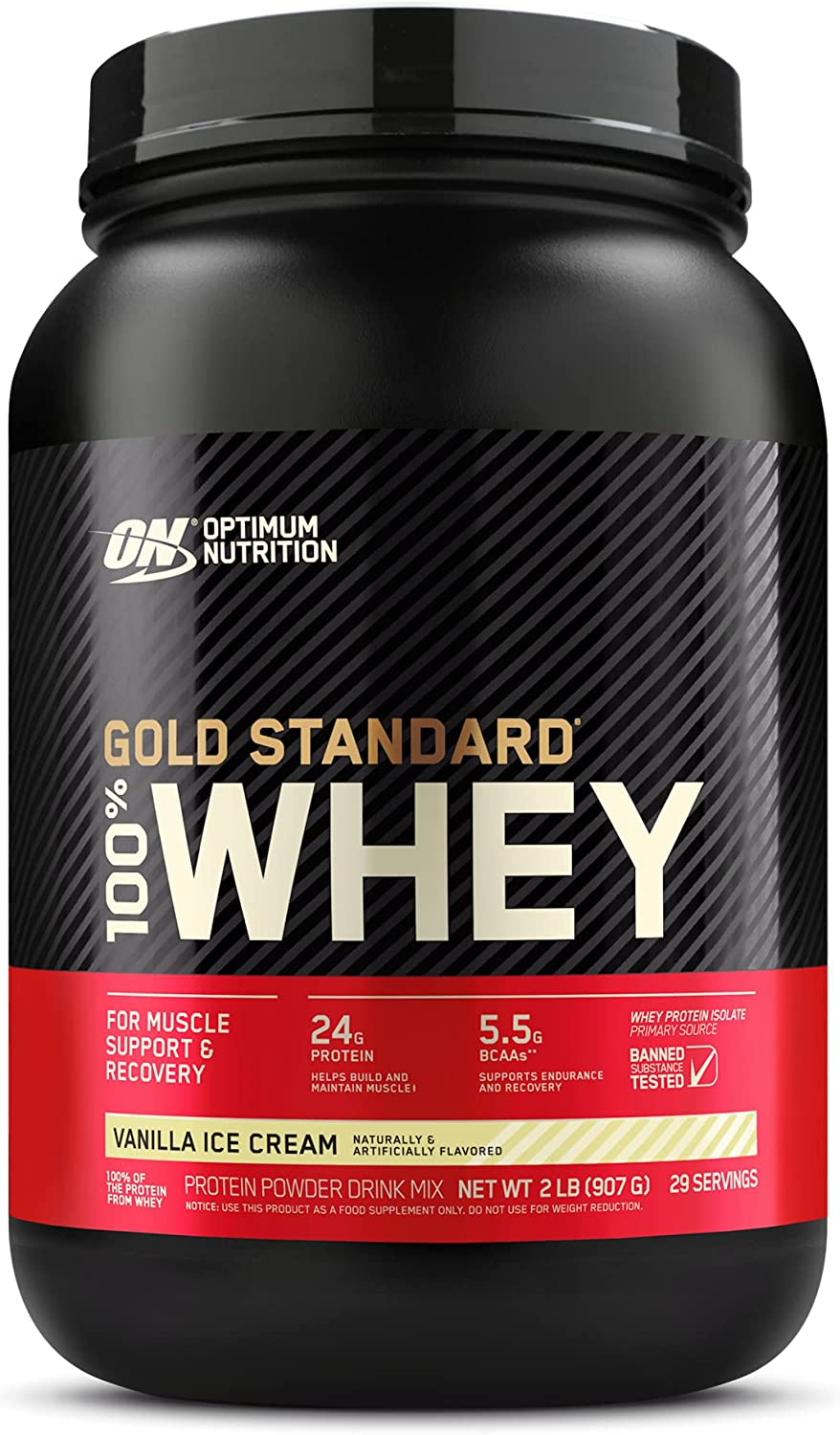 Optimum Nutrition Gold Standard 100% Protein Vanill Discount mail order Be super welcome Powder Whey