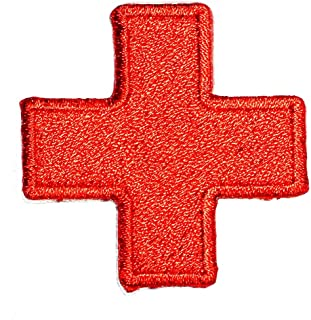 American Red Cross Medic First Aid Nurse Doctor Emergency Logo Symbol DIY Iron on Patch Iron-On Designer Patch Used for Gifts Crafts Jeans Clothing Fabric