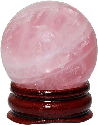 "SUNYIK Natural Rose Quartz Sphere Gemstone Ball Sculpture Figurine(2.5""-2.7"")"